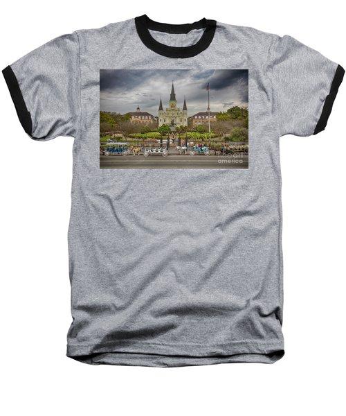 New Orleans Jackson Square Baseball T-Shirt