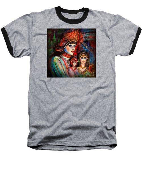 New Orleans Live Mannequins Baseball T-Shirt by Walt Foegelle
