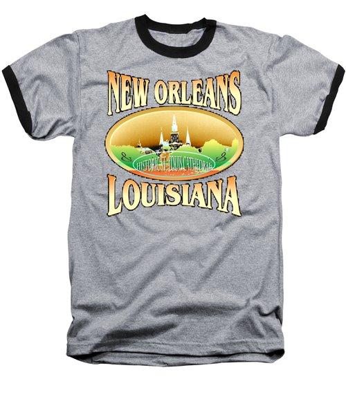 New Orleans Louisiana Design Baseball T-Shirt