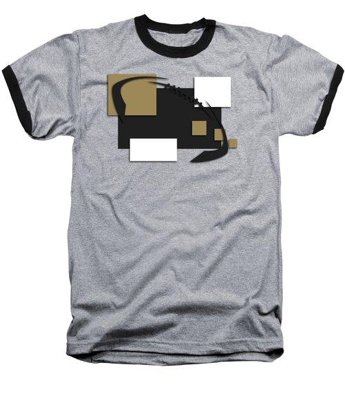 New Orleans Saints Abstract Shirt Baseball T-Shirt by Joe Hamilton