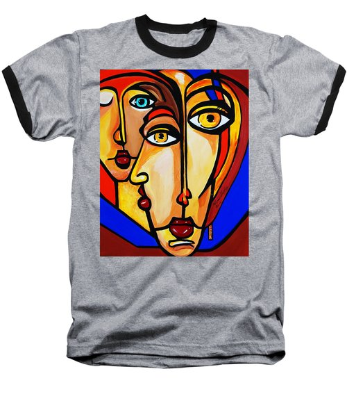 New Picasso By Nora Friends Baseball T-Shirt by Nora Shepley