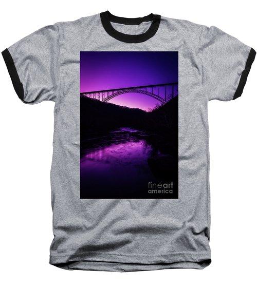 New River Gorge Bridge Afterglow Baseball T-Shirt
