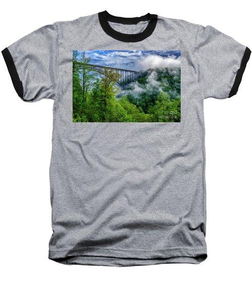 New River Gorge Bridge Morning  Baseball T-Shirt