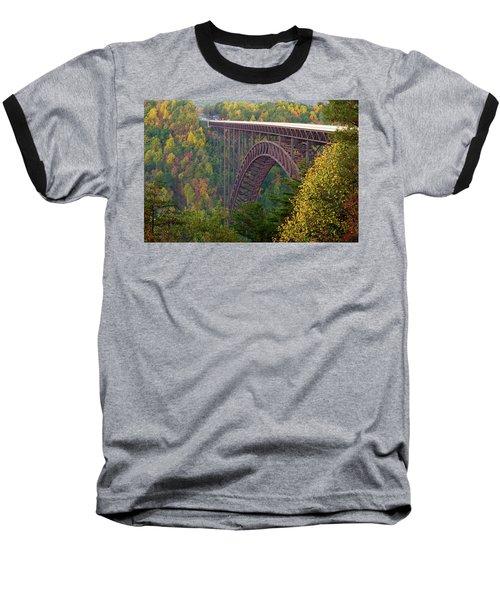 New River Gorge Bridge Baseball T-Shirt by Steve Stuller
