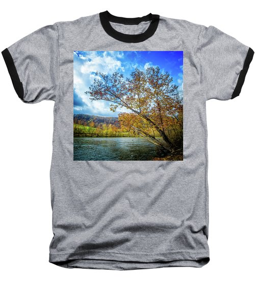 New River In Fall Baseball T-Shirt