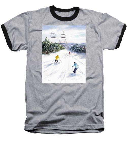 Baseball T-Shirt featuring the painting New Snow by Vikki Bouffard