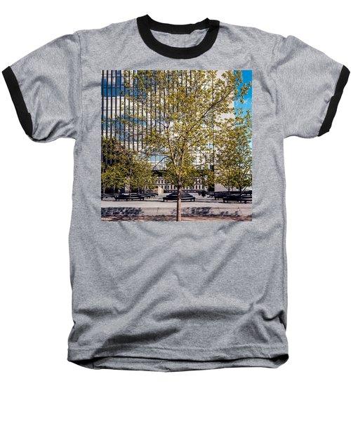 Trees On Fed Plaza Baseball T-Shirt
