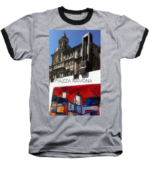 new work Piazza Navona Baseball T-Shirt