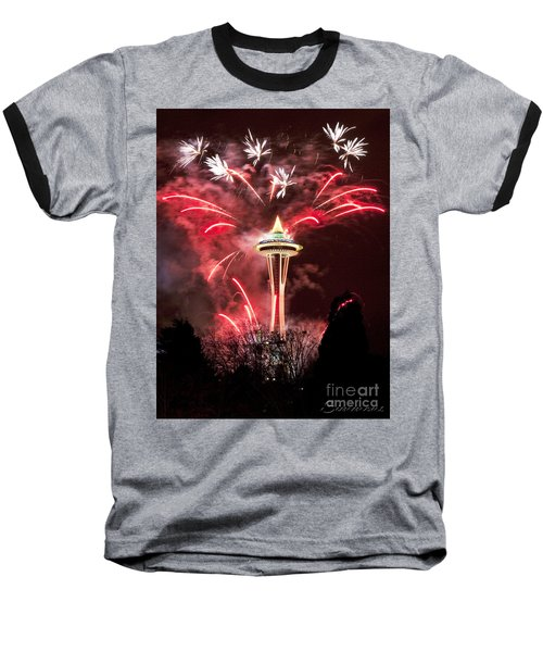 New Years At The Space Needle Baseball T-Shirt