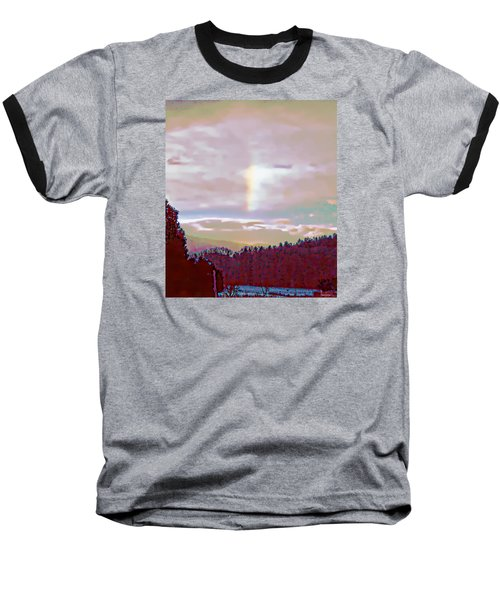 New Year's Dawning Fire Rainbow Baseball T-Shirt by Anastasia Savage Ealy