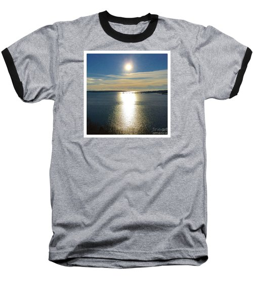 New Year's Day 2016, Casco Bay, Portland, Maine  Baseball T-Shirt by Patricia E Sundik