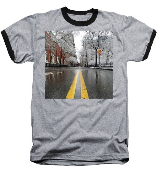 New York 1st Snow Baseball T-Shirt