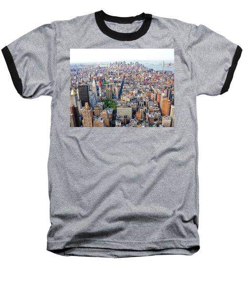New York Aerial View Baseball T-Shirt