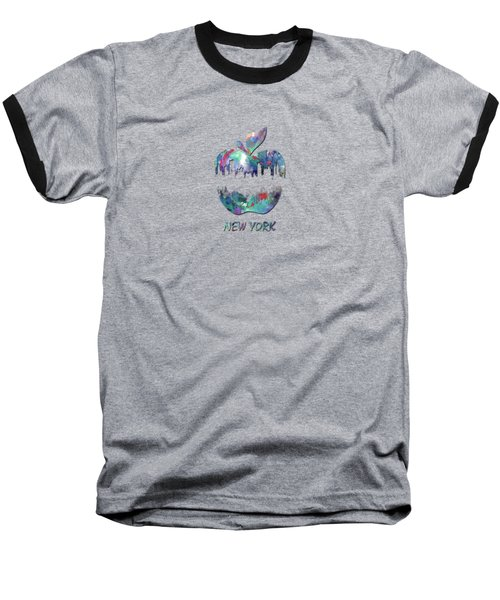 new York apple  Baseball T-Shirt by Mark Ashkenazi