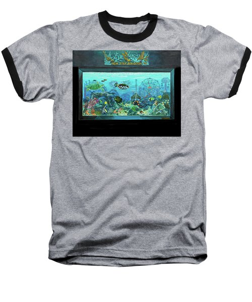 New York Aquarium Baseball T-Shirt by Bonnie Siracusa