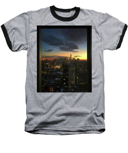 New York At Sunset Baseball T-Shirt