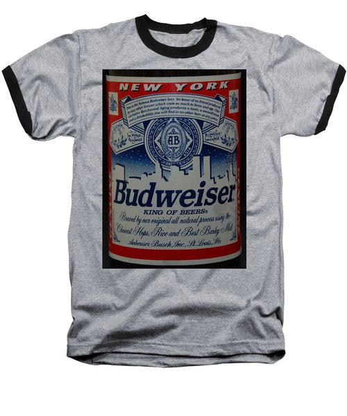 New York Bud Baseball T-Shirt