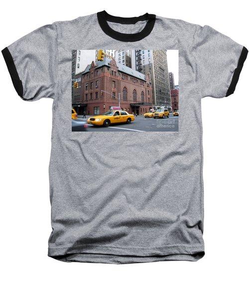 New York City Yellow Cab  - Amsterdam -  West Seventy Sixth Baseball T-Shirt