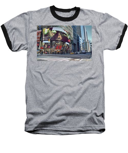 New York City - Broadway And 42nd St Baseball T-Shirt by Dyle Warren