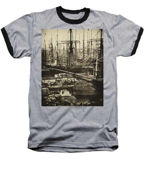 New York City Docks - 1800s Baseball T-Shirt