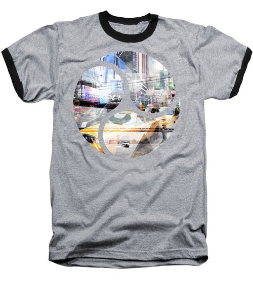 New York City Geometric Mix No. 9 Baseball T-Shirt by Melanie Viola