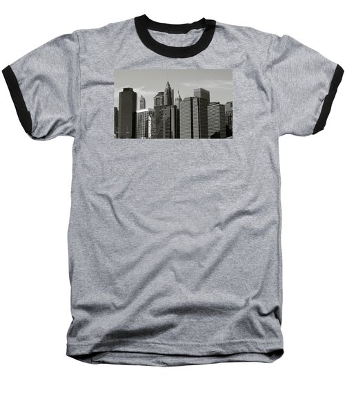 Baseball T-Shirt featuring the photograph New York City by Helen Haw