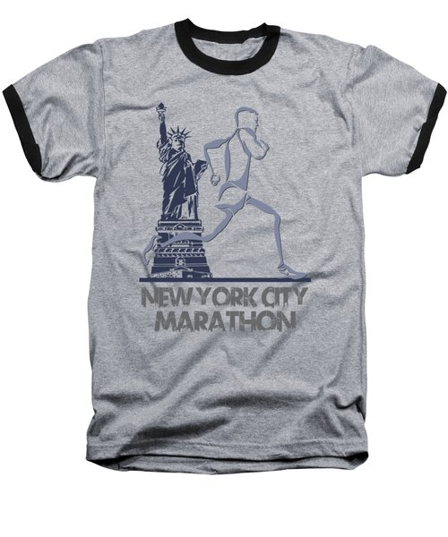 New York City Marathon3 Baseball T-Shirt by Joe Hamilton