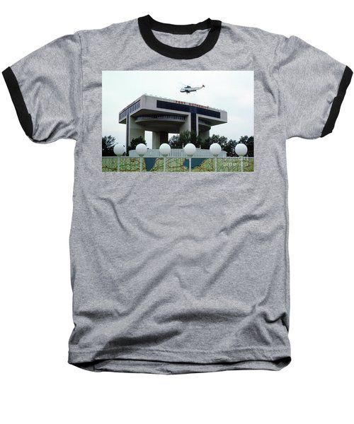 New York City Port Authority Helicopter Pad, New York World's Fa Baseball T-Shirt by Photovault