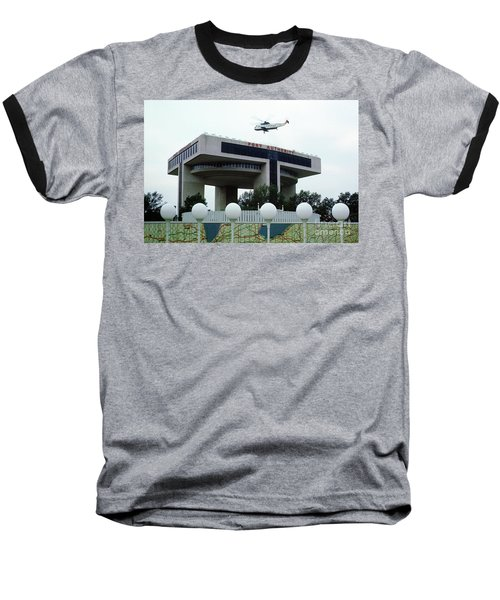 New York City Port Authority Helicopter Pad, New York World's Fa Baseball T-Shirt