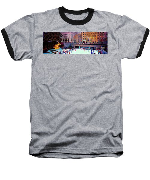 New York City Rockefeller Center Ice Rink  Baseball T-Shirt