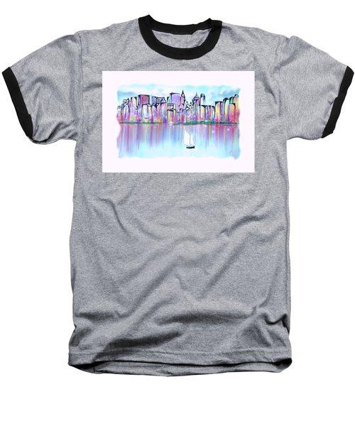 New York City Scape Baseball T-Shirt