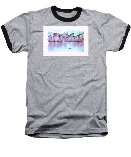 New York City Scape Baseball T-Shirt