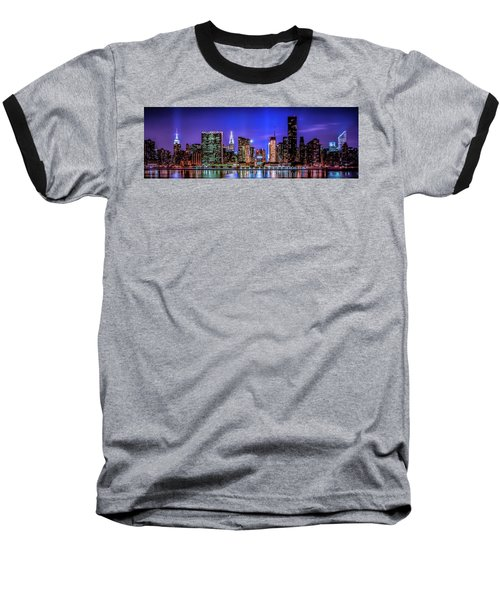 Baseball T-Shirt featuring the photograph New York City Shine by Theodore Jones