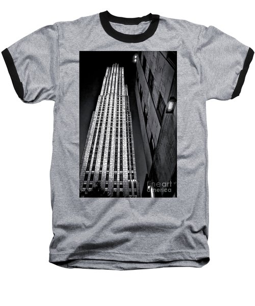 New York City Sights - Skyscraper Baseball T-Shirt by Walt Foegelle