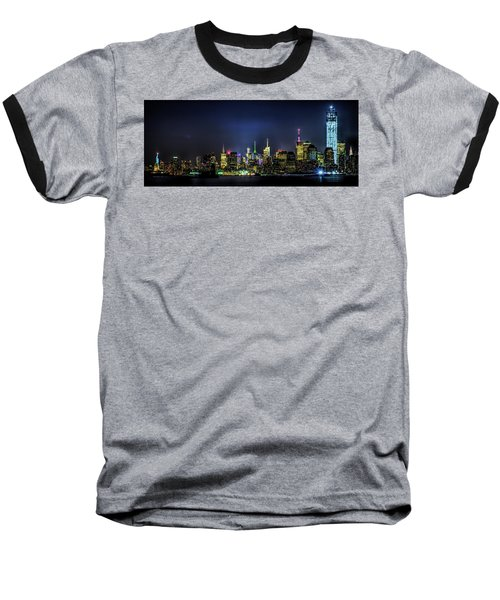Baseball T-Shirt featuring the photograph New York City Skyline by Theodore Jones
