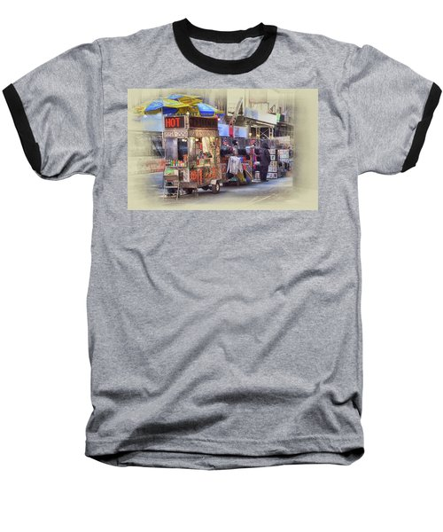 New York City Vendor Baseball T-Shirt by Dyle Warren