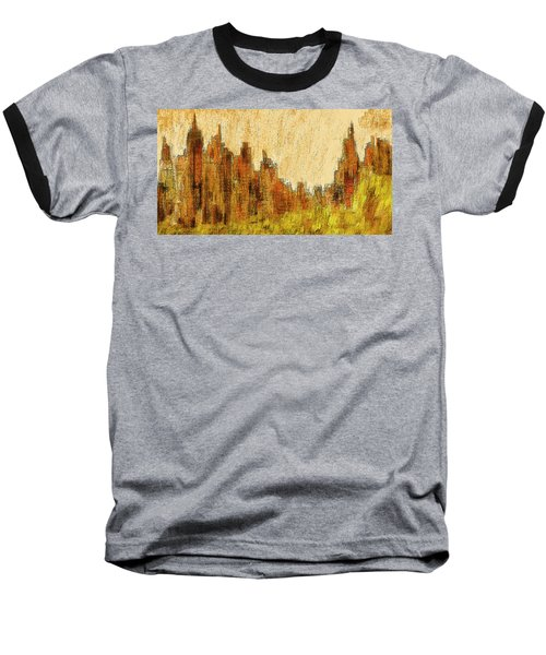 New York City In The Fall Baseball T-Shirt by Alex Galkin