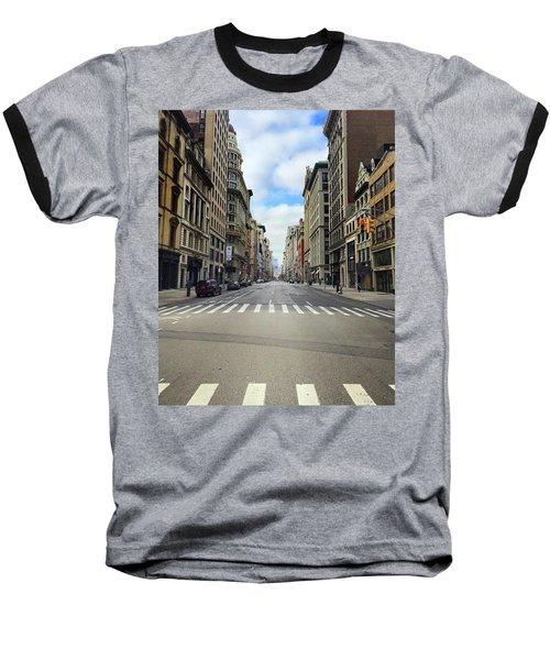 New York Edge Of City Baseball T-Shirt
