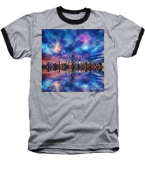 New York Fireworks Baseball T-Shirt