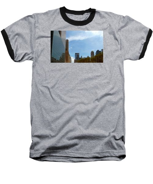Baseball T-Shirt featuring the photograph New York by Helen Haw