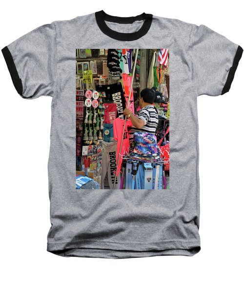 Baseball T-Shirt featuring the photograph New York, New York 14 by Ron Cline