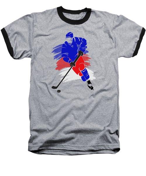 New York Rangers Player Shirt Baseball T-Shirt by Joe Hamilton