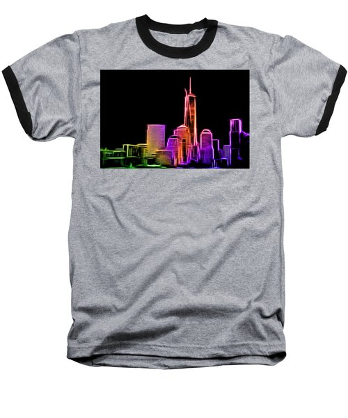 Baseball T-Shirt featuring the photograph New York Skyline by Aaron Berg