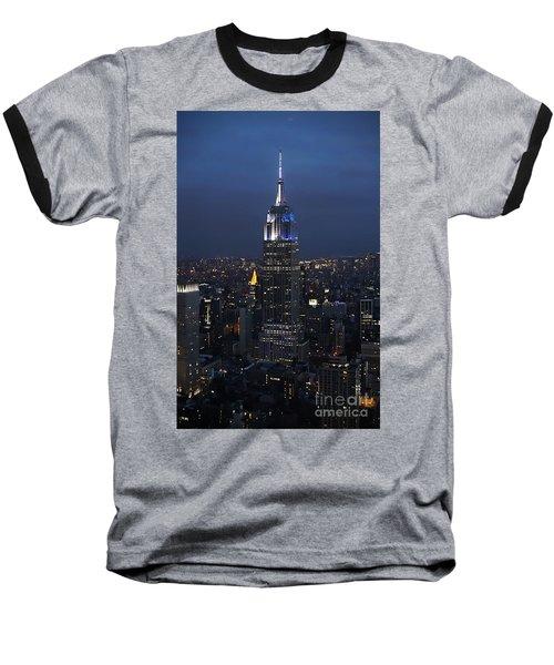 New York State Of Mind Baseball T-Shirt by Lilliana Mendez