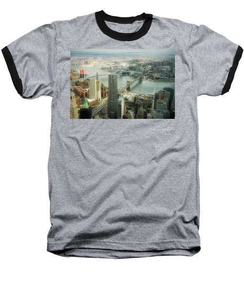New York View Of East River Baseball T-Shirt