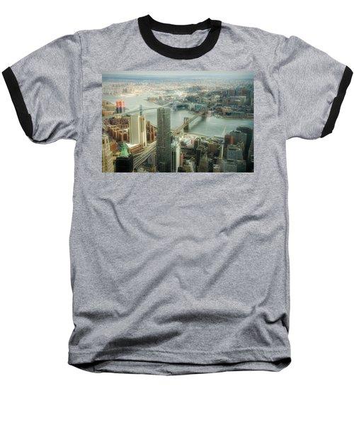 New York View Of East River Baseball T-Shirt