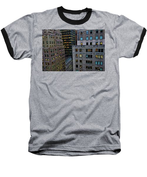 Baseball T-Shirt featuring the photograph New York Windows by Joan Reese