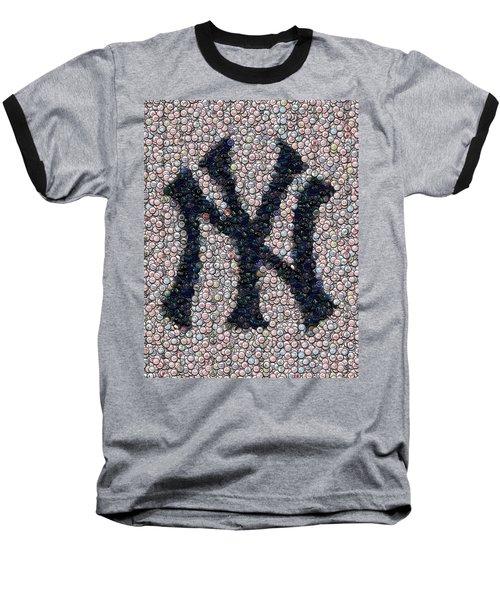 New York Yankees Bottle Cap Mosaic Baseball T-Shirt