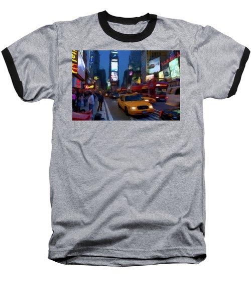 New York Yellow Cab Baseball T-Shirt by David Dehner