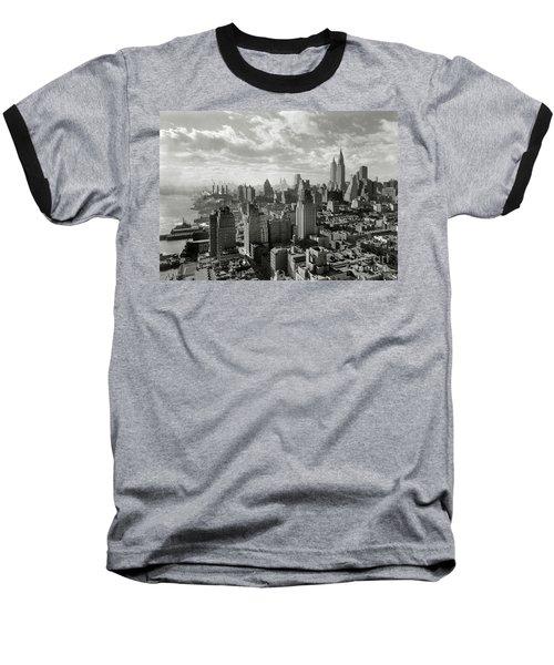 New Your City Skyline Baseball T-Shirt by Jon Neidert